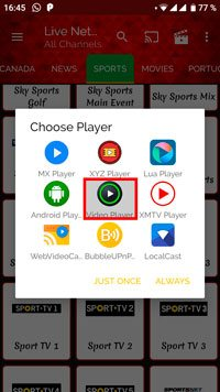 VideoPlayer ver deportes online gratis