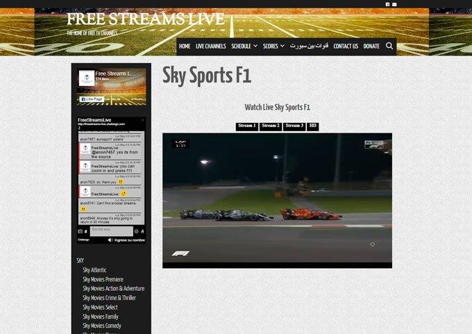 Ver f1 online directo gratis