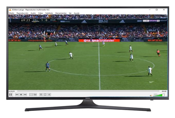 VLC Listas-IPTV ver futbol gratis