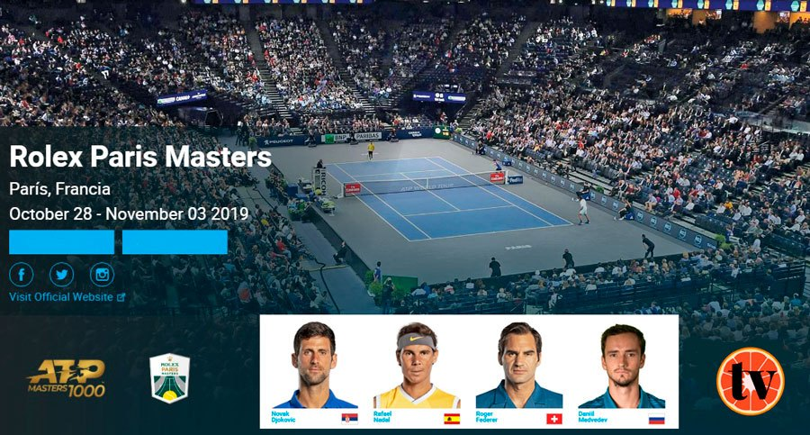 ATP Masters 1000 París ver Tenis en directo Gratis