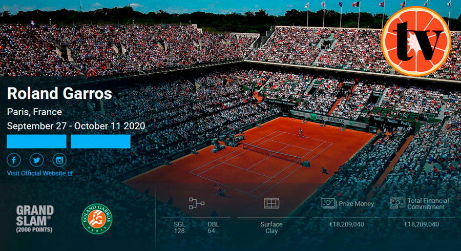 Roland-Garros-2020 Ver Tenis Gratis