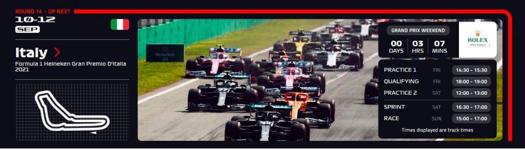 Monza ver F1 Gratis